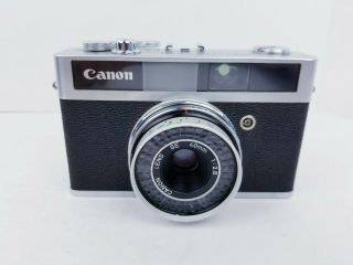 Vintage Canon Canonet Junior Camera With 40 Mm Lens Film Camera W/case