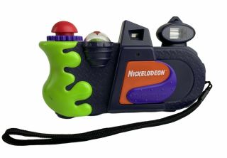 Vintage Nickelodeon Photo Blaster N6800 35mm Film Camera Nick Slime Splat Read