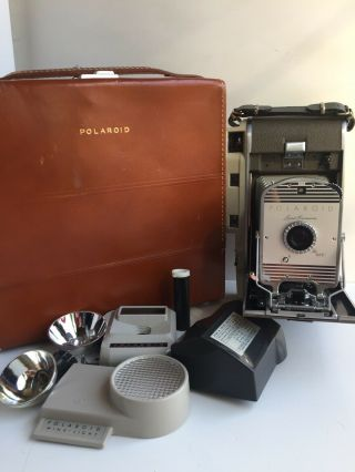 Vintage Polaroid Model 800 Land Camera Leather Case,  Etras