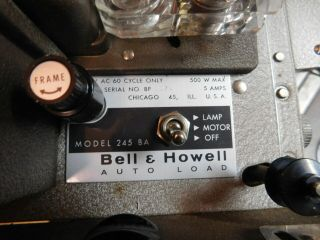 Bell & Howell 245ba Autoload 8mm Movie Projector Vintage Film Projector