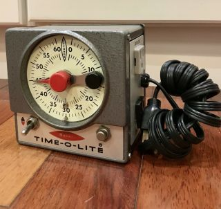 Vintage Photography Master Time - O - Lite Model M - 72 Photo Darkroom Timer -
