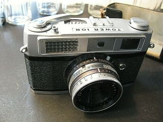 :tower 10b Vtg.  35mm Film Rangefinder Camera W/ Mamiya 40mm F=1:2.  8 Lens,  Case