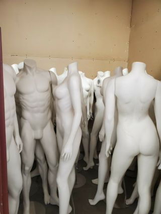 Premium Full Body Mannequins With Stands (male And Female)