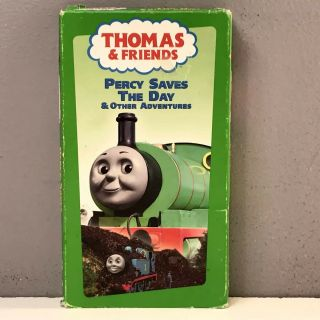 Thomas The Tank Engine & Friends Percy Saves The Day Vhs Video Vcr Vtg Tape Rare