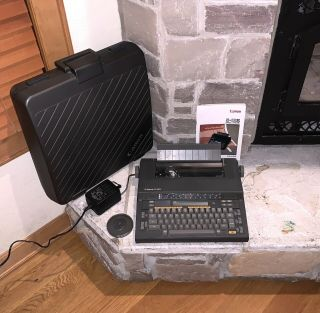 Canon Space - Gray Slim Portable Electric Typewriter S - 16s,  Canon Case