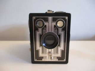 Vintage Kodak Brownie Six - 20 Film Box Camera 620 Art Deco