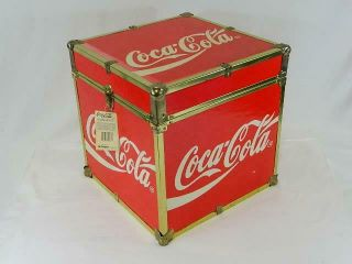 """Vintage Rare 1990 Coca Cola 16 """" Footlocker Case Trunk Chest - With - Tags"""
