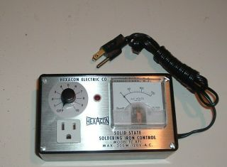 Vtg.  Hexacon Solid State Soldering Iron Control Model Tc 871 Max.  300 W 120v A.  C