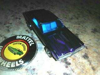 Purple Black Roof Custom Cougar Redline Hot Wheels Orig Blue Int Wheel Restored