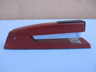 Vintage Swingline Stapler Red Made In Long Island City Ny Usa