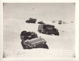 Wwii Photo Jeeps Trucks Movie Camera Desert Camp Seeley 1942 Ca 26