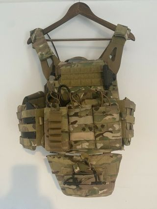 Crye Precision Jpc 2.  0 Multicam Large With Nijiii Plates,  Side And Pelvis Armour