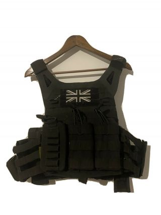 Crye Precision Jpc 2.  0 Black,  Size Large With Side Plate Pouches And Crye Armour
