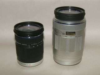 Olympus M Zuiko Digital 75mm–300mm F4.  8 - 6.  7 Ed Zoom 14mm–150mm F4 - 5.  6 Ed Display