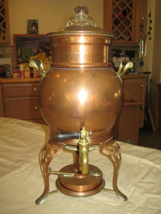 Antique Copper Percolator Coffee Pot 1907,  Landers Frary & Clark Universal N.  009