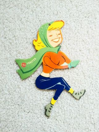 Rare Vintage 1960s Ge General Electric In - Store Display Toaster Girl