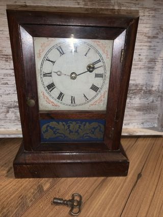 Antique Annsonia Mantle Clock Brass And Copper Company