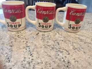 Campbells Tomato Soup Anniversary Camden Nj Vintage 8 Ounce Cups Set Of 3