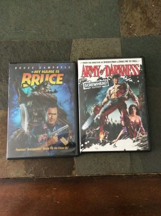 2 Bruce Campbell Movies Army Of Darkness And My Name Is Bruce Dvds