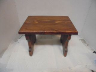 Small Wooden Stool Bench 8 - 1/2 Inches Tall 12
