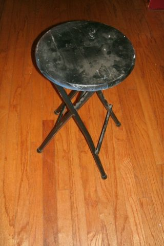 Foldable All Metal Round Top Stool