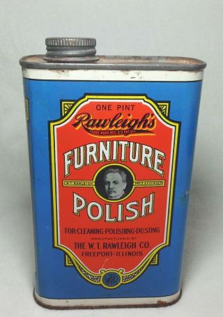 Can Collector Rawleighs Furniture Polish 1 Pint Can All Metal