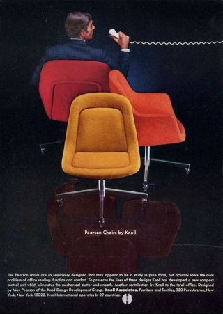 1969 Knoll Print Ad Features Max Pearson Designed Chair