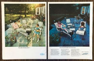 1964 Ames Aire Patio Furniture 2 Pg Print Ad Can