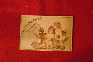 (2) York Furniture Co Newburgh Ny Victorian Trade Cards (2)