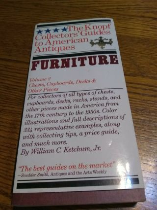 The Knopf Collectors Guides To American Antiques,  Furniture