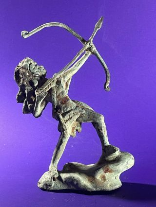 European Finds - Ancient Roman Bronze Statue Of Huntress Diana Circa 200 - 300 Ad