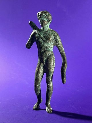 Rare Ancient Roman Bronze Period Statue - Circa: 200 - 400 Ad 106mm X 46mm