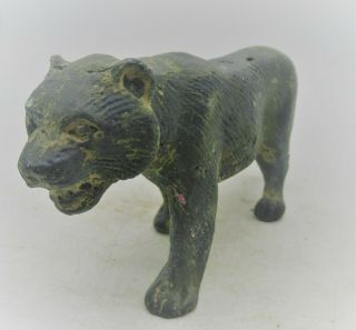 Ancient Roman Bronze Military Tiger Ornament Ca 300 - 400 Ad