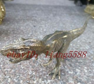 Of Exquisite Hand - Carved Bronze Ancient (tyrannosaurus Rex) Dinosaur Statues