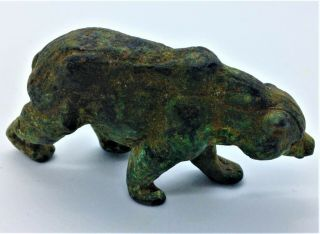 Rare Ancient Roman Bronze Bear Figurine - Circa 100ad