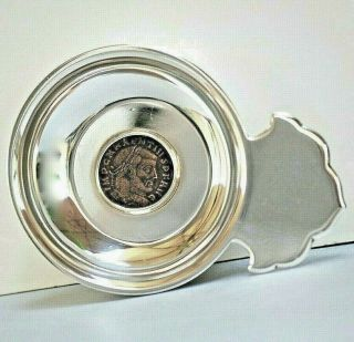 Bulgari Bvlgari Monete Sterling Silver Wine Taster Ancient Bronze Roman Coin