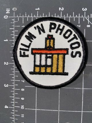Vintage Film 'n Photos Logo Patch Photography Pictures Camera Shop Develop And