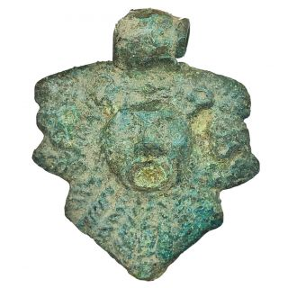 Ancient Roman Or Byzantine Medieval Anthropomorphic Bronze Artifact Jewelry Old