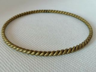 Rare Extremely Ancient Viking Bracelet Bronze Twisted Artifact Authentic