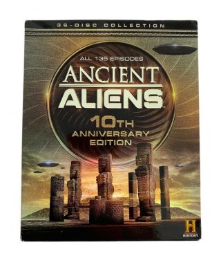 Ancient Aliens Tv Series Complete Season 1 - 10 36 Dvds 10th Anniversary Edition
