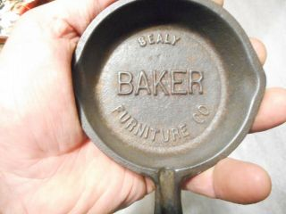 Collectible - Advertising Cast Iron Skillet (sealy Baker Furniture Co. ) Emboss