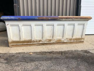 """C1900 Vintage Country Store Cash Wrap Counter Pine 8' X 30"""" X 33"""" H Great Color"""