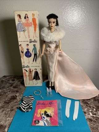 Vintage Barbie Ponytail 3 Stunning All,  Stand,  Box,  Booklet,  Clothes
