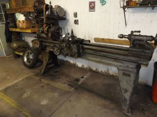 Vintage Large South Bend Metal Lathe 18 Inch Swing