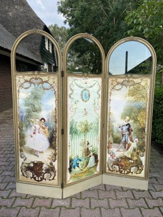 Antique French Room Divider (paravent) Worldwide