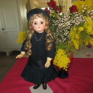 """20 """" Francois Gaultier With Antique Clothes.  French Antique Doll"""