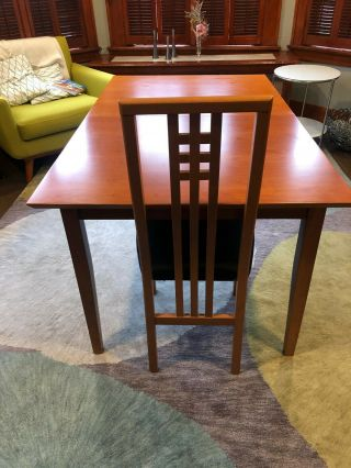 Vintage Set Of Ims Srl Italian Teak Chairs And Dining Table Mid Century Styling