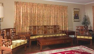 Vintage 1980 6 - Piece Chinese Rosewood Living Room Set Sofa 2 Chairs 3 Tables Euc
