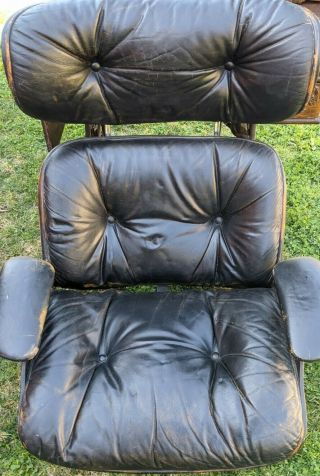 Vintage 80s Herman Miller Eames Lounge Chair - Black Leather (chair Only)