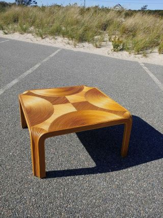 Vintage Pencil Reed Style Coffee Table,  Boho,  Gabriella Crespi Style Table